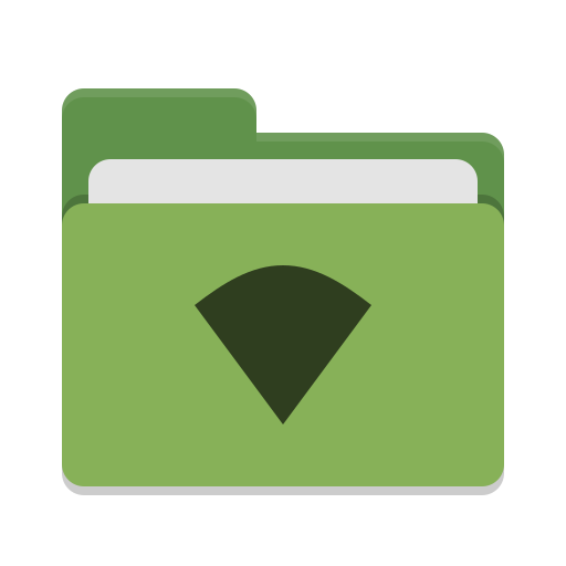 Folder-green-wifi icon