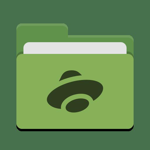 Folder green yandex disk icon