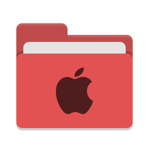 Folder red apple icon