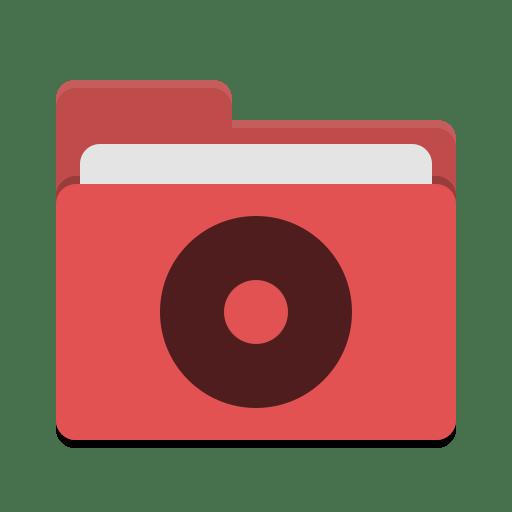 Folder-red-cd icon