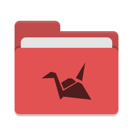 Folder red copy cloud icon