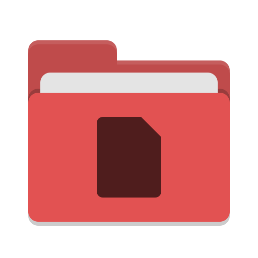 Folder-red-documents icon