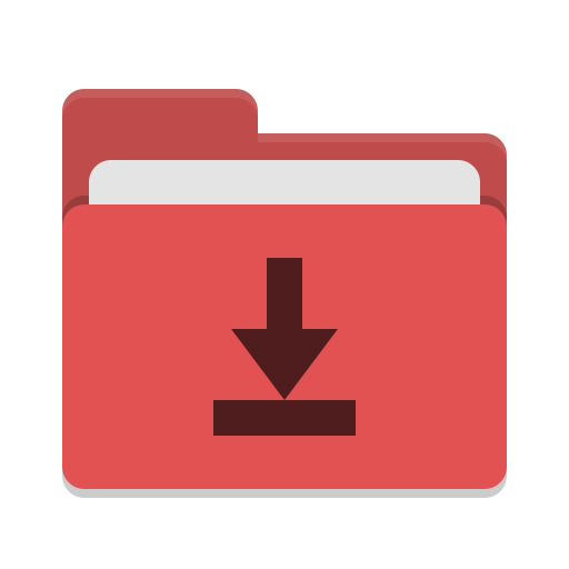 Folder red download icon