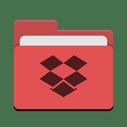 Folder-red-dropbox icon