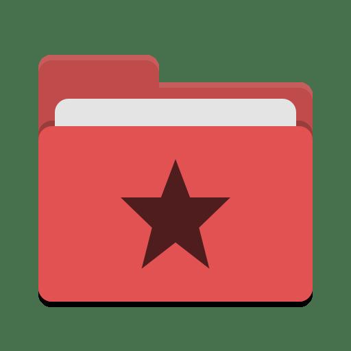 Folder-red-favorites icon