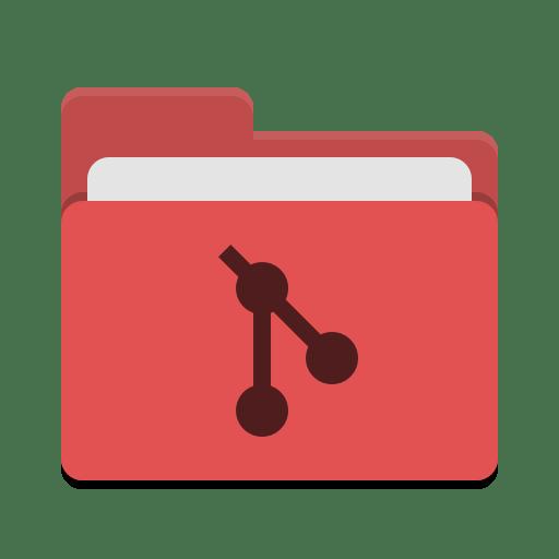 Folder red git icon