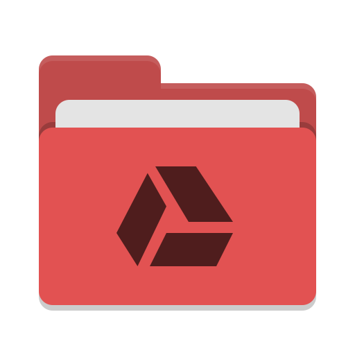 Folder-red-google-drive icon