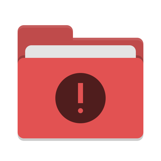 Folder red important icon