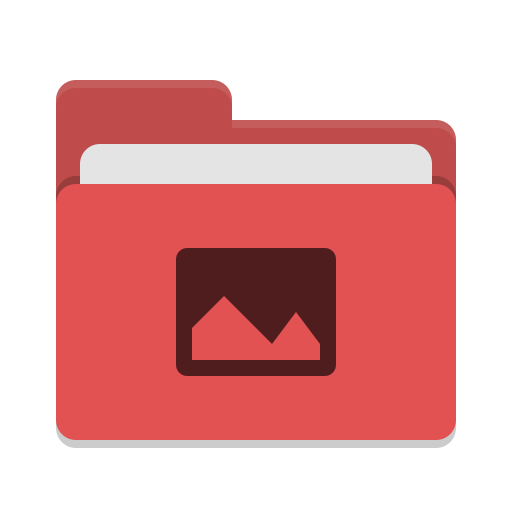Folder red pictures icon