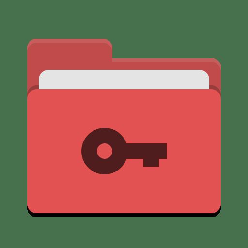 Folder red private icon