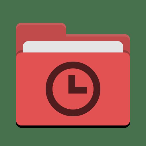 Folder red recent icon