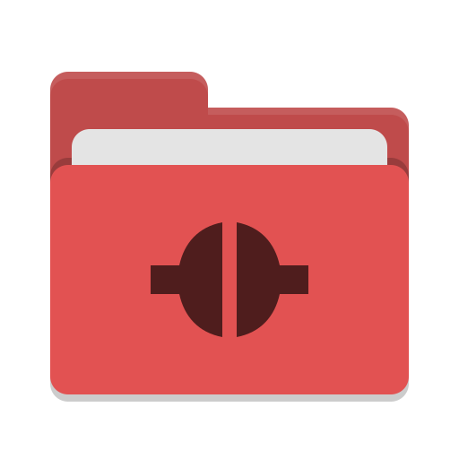 Folder red remote icon
