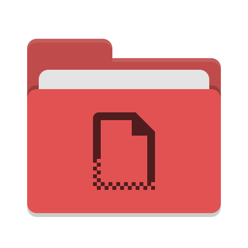 Folder red templates icon