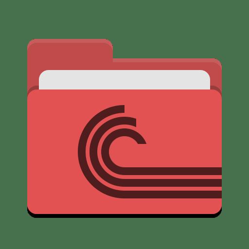 Folder-red-torrent icon