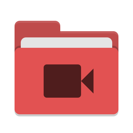 Folder red video icon