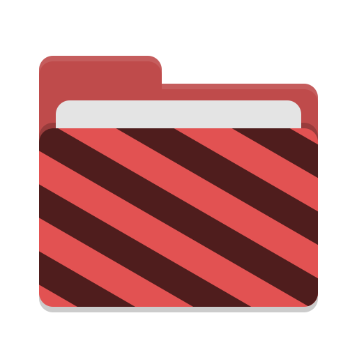 Folder-red-visiting icon