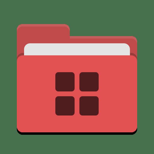 Folder red wine icon
