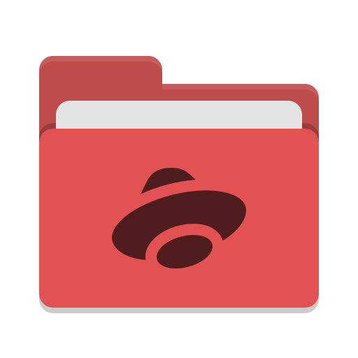 Folder-red-yandex-disk icon