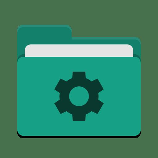 Folder teal development icon