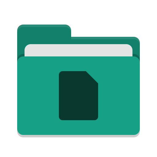 Folder teal documents icon