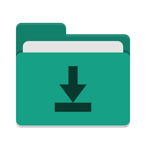 Folder-teal-download icon