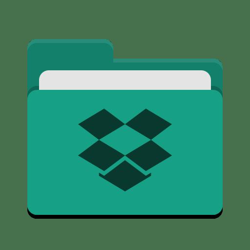 Folder-teal-dropbox icon