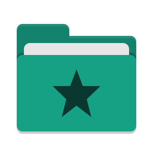 Folder-teal-favorites icon