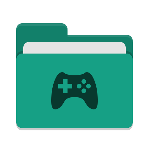 Folder teal games icon