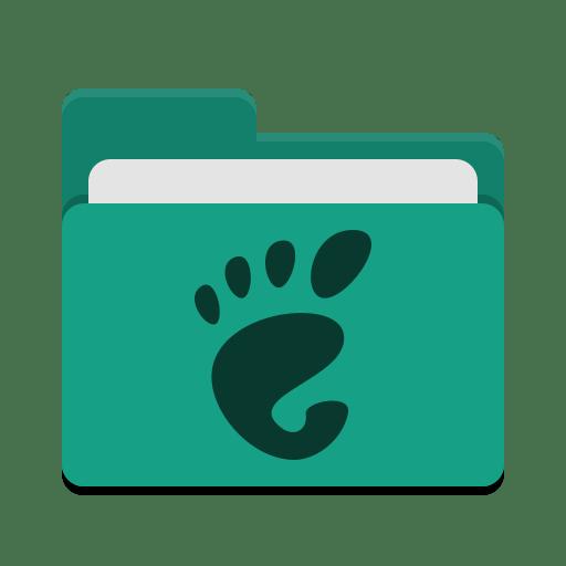 Folder teal gnome icon