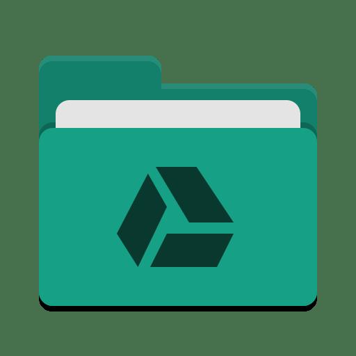 Folder-teal-google-drive icon