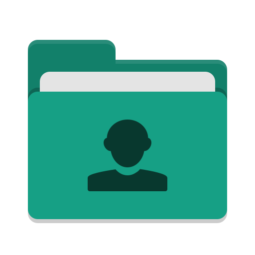 Folder-teal-image-people icon