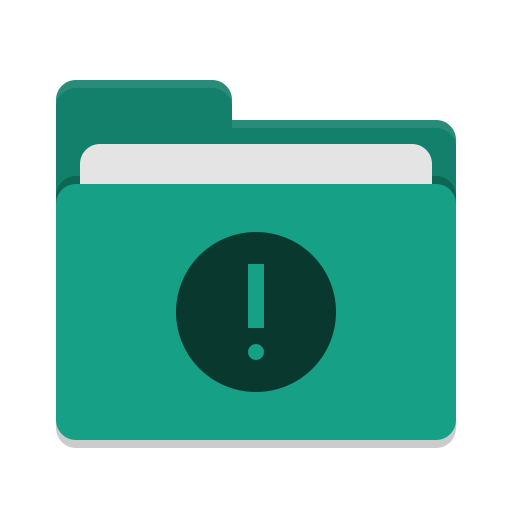 Folder-teal-important icon