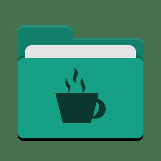 Folder teal java icon