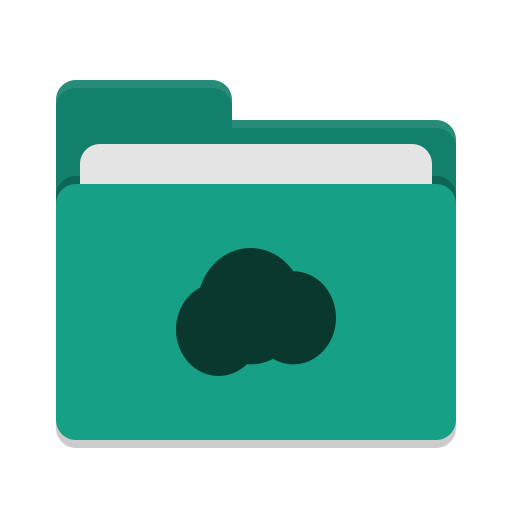 Folder teal mail cloud icon
