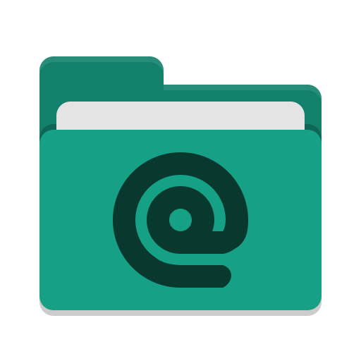 Folder teal mail icon