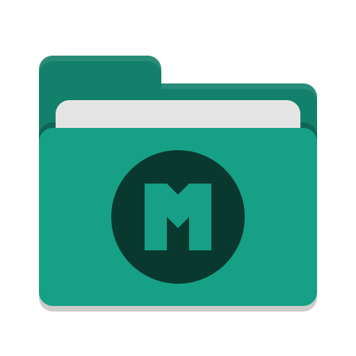 Folder-teal-mega icon