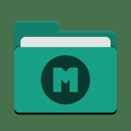 Folder teal mega icon