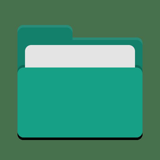 Folder teal open icon
