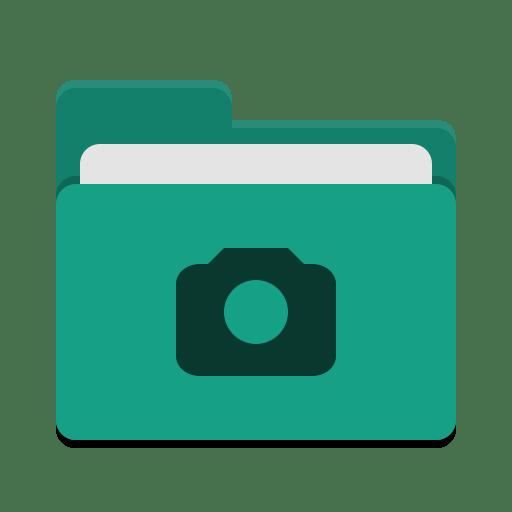 Folder teal photo icon