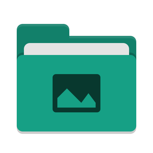 Folder-teal-pictures icon