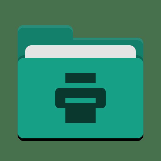 Folder-teal-print icon