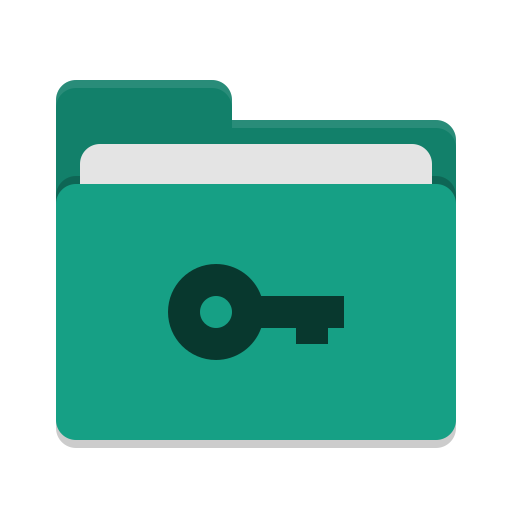 Folder-teal-private icon