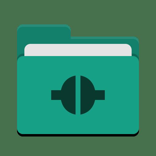 Folder-teal-remote icon