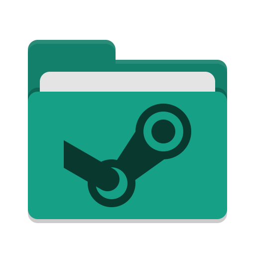 Folder-teal-steam icon
