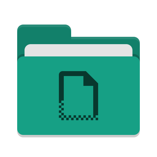 Folder teal templates icon