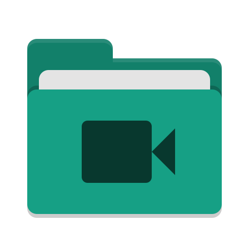 Folder-teal-video icon