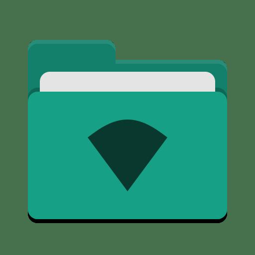 Folder teal wifi icon