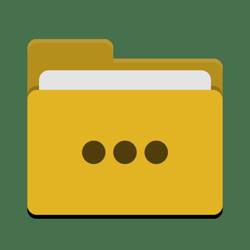Folder-yellow-activities icon