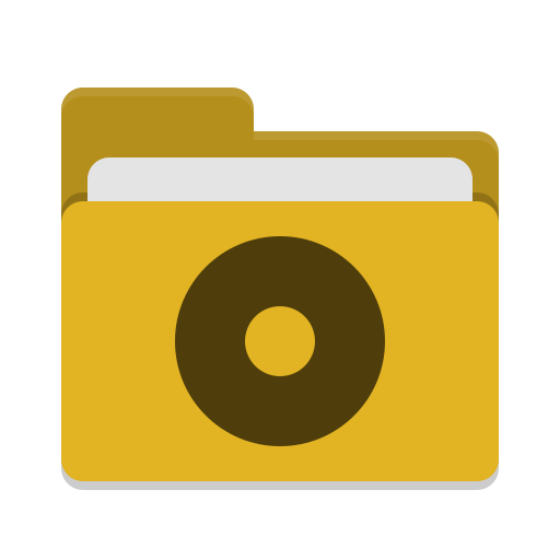 Folder yellow cd icon