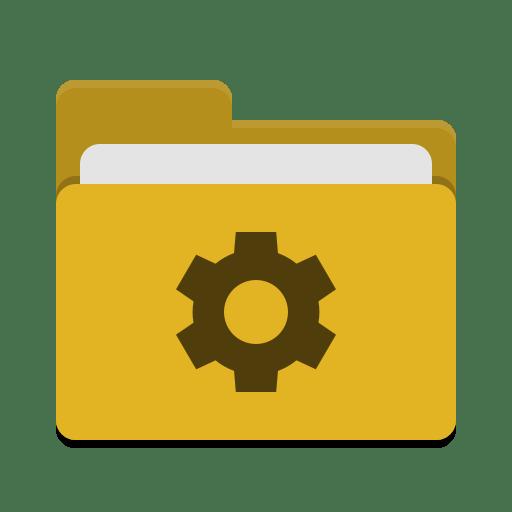 Folder-yellow-development icon